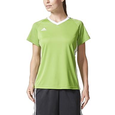 2793e17fd Amazon.com: Adidas Tiro 17 Womens Soccer Jersey Rave Green-White ...