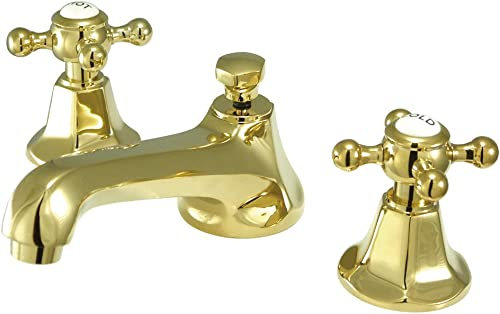 NUVO ES4462BX Elements of Design New York 2-Handle 8 to 16 Widespread Lavatory Faucet with Brass Pop-Up, 5-1 2 , Polished Brass