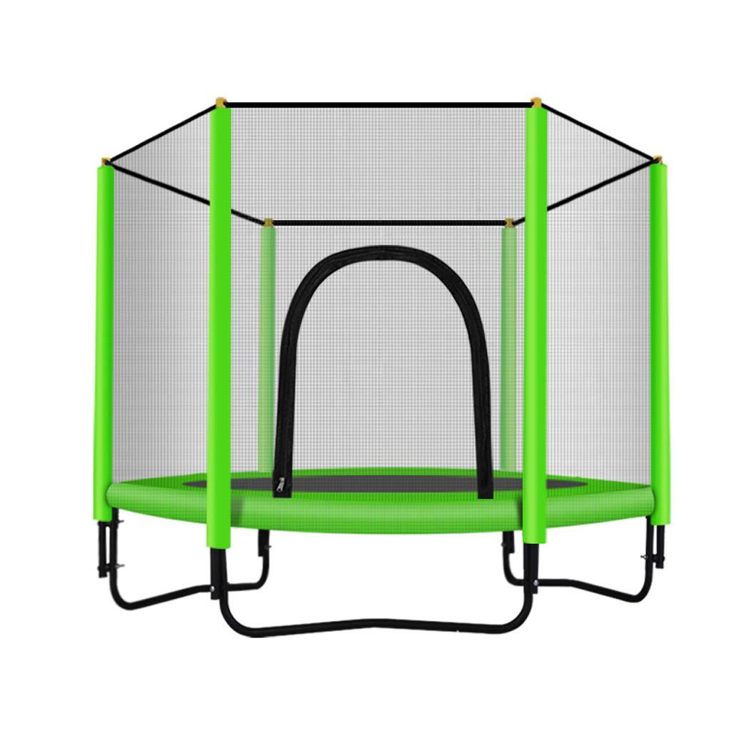 Unbekannt Lxn Mode Sport Trampolin mit Sicherheitsgehäuse-Indoor-oder Outdoor-Trampolin für Kinder-60 Zoll - Lager 330 Pfund
