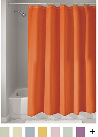 InterDesign Mildew Free Water Repellent Fabric Shower Curtain 72 Inch By