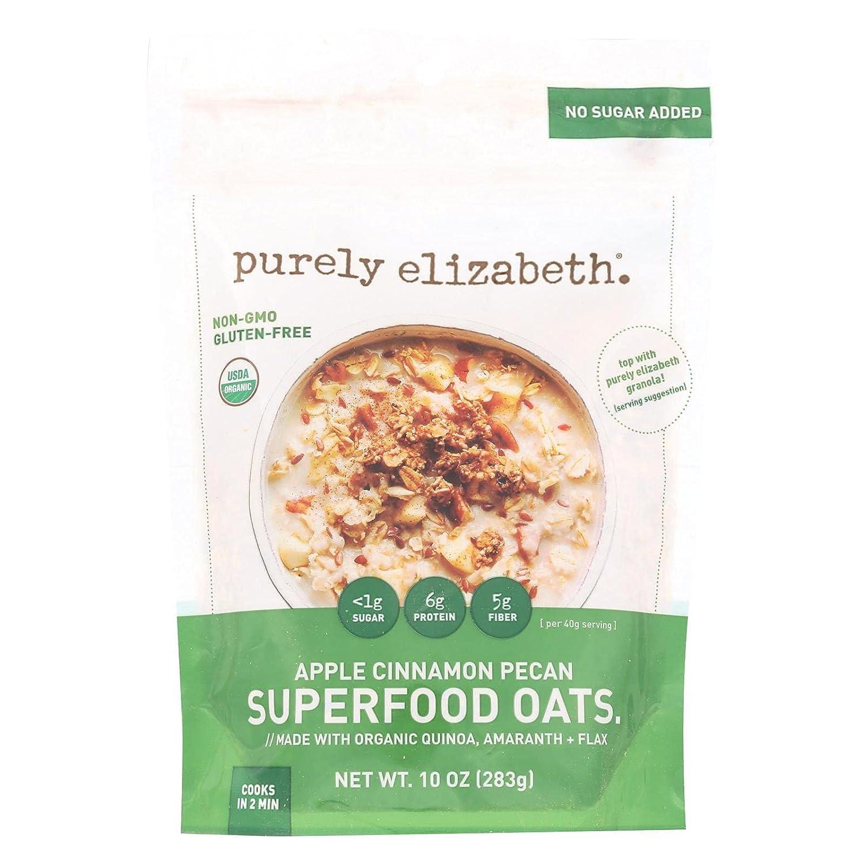 Purely Elizabeth Oatmeal - Organic - Ancient Grain - Original - 10 oz - case of 6 - 95%+ Organic - Gluten Free - Dairy Free - Wheat Free-