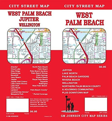 West Palm Beach / North Palm Beach County, Florida Street Map by GM Johnson - Palm Beach Florida Mall