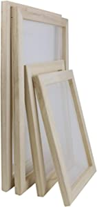 YEXPRESS 4 Pack Wooden Paper Making Mould Frame, Screen Printing Frame for DIY Paper Craft, 2 Size