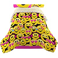 Emojination MJ6438 Happy Happy Reversible Comforter, Twin