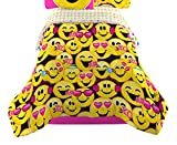 Emoji Comforter Set Twin Emojination Happy Reversible Twin Comforter, Yellow Pink