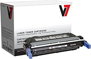 V7 V74700B Remanufactured Black Toner Cartridge for HP Q5950A (HP 643A) - 11000 Page Yield