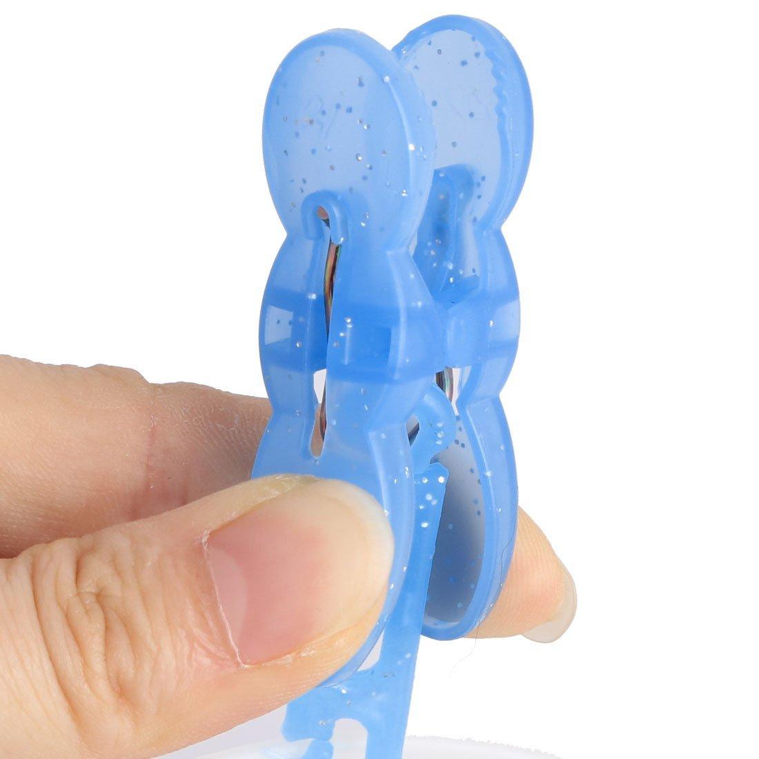 Amazon.com: eDealMax plástico plegables Para el hogar Calcetines Guantes de ropa de la suspensión 8 Clips Blanco Azul: Home & Kitchen