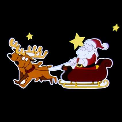 Immagini Natale Movimento.Luminalpark Proiettore Garden Babbo Natale Su Slitta Effetto