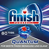 Finish 亮碟 Quantum 洗碗机洗涤块 不上玻璃,保持玻璃光泽 80 Tabs 80
