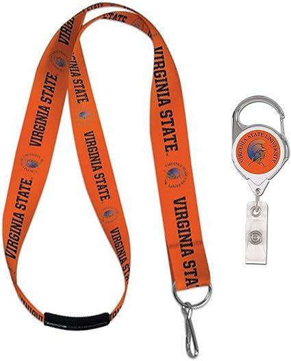WinCraft Bundle 2 Items Fresno State Bulldogs 1 Lanyard Key Ring and 1 Premium Badge Reel