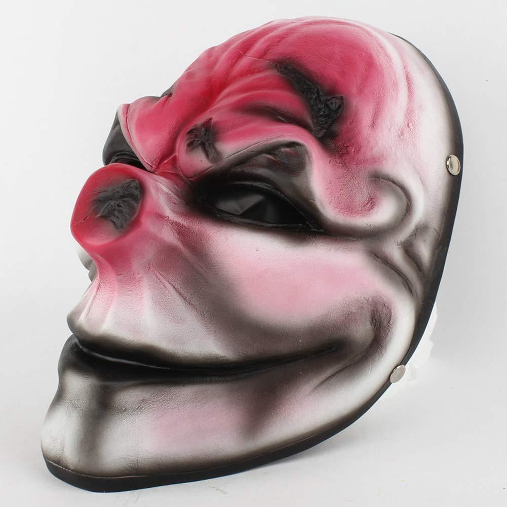 BERID Halloween Máscara De Payaso, Máscara De Cabeza Roja, Creative Divertido Resina Vizard Máscara, Fiesta, Mascarada Y Máscara De Cosplay