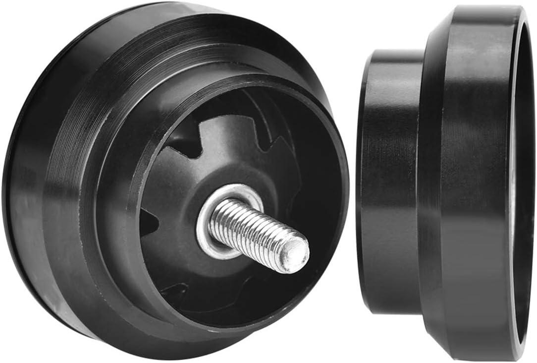 Negro Ruiqas Auriculares de Bicicleta de aleaci/ón de Aluminio para Tubo de Cabeza de Cuadro de Bicicleta de 34 mm Pieza de Repuesto de cojinete de Horquilla de direcci/ón Recta de 28,6 mm