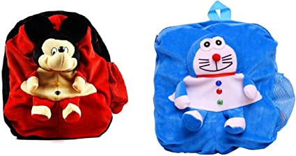 JRP Marts Combo Pack of 2 Cute Soft Toy Bag for Kids for School / Travelling Bag/ Carry Bag / Picnic Bag / Soft Toy Bag (Pack of 2)