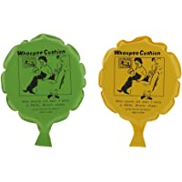 Baoblaze 2pcs Creative Funny Whoopee Cushion Prank Joke Prank Gag Trick Party Toy Woopy Party Accessories Yellow & Green