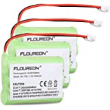 Floureon 3 Packs 3.6V 900mAh Rechargeable Cordless Phone Telephone batteries for Motorola SD-7501 AT-T/Lucent 27910 8058480000 8900990000
