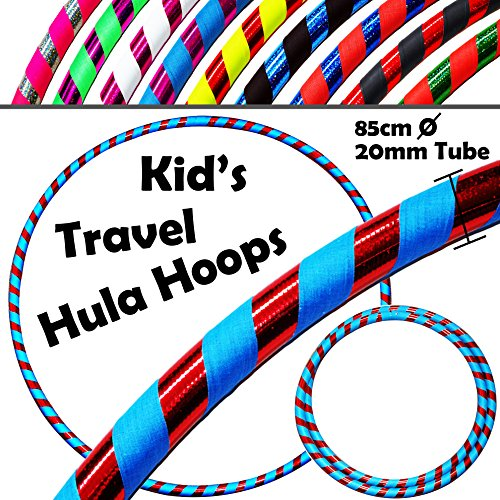 KID's HULA HOOPS -Quality Weighted Childrens Hula Hoops! Great For Exercise, Dance, Fitness & FUN! NO Instructions needed! Same Day Dispatch! (UV Blue / Red Glitter)