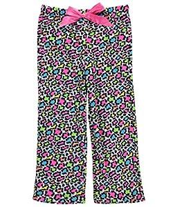 "Sleep On It Big Girls' ""Rainbow Cheetah"" Fleece Pajama Pants"