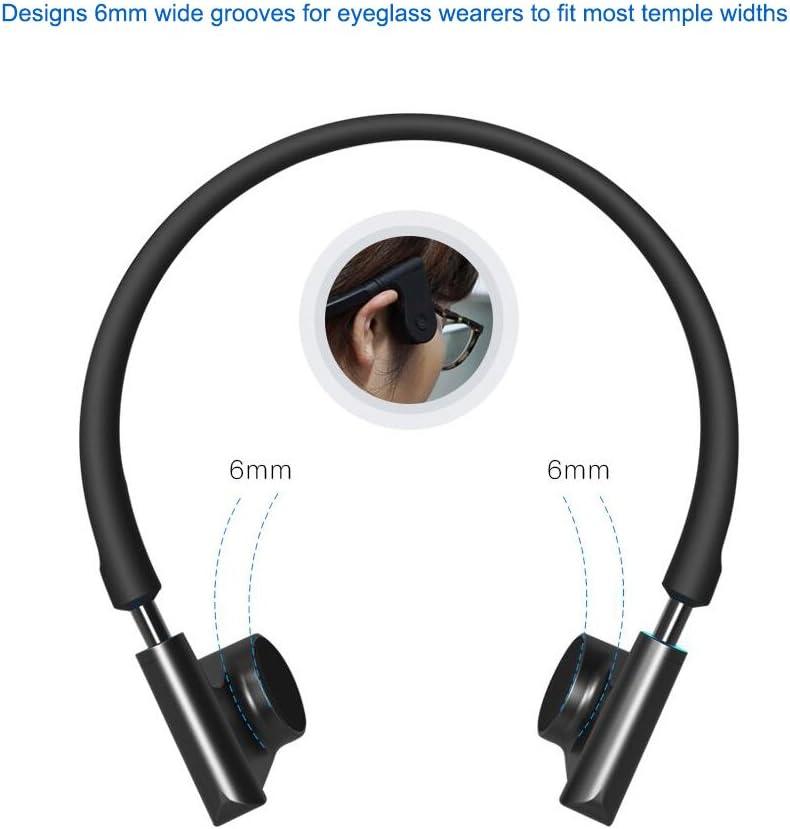 Z&HA Auriculares Inalámbricos Inteligentes De Conducción Ósea Auricular Bluetooth De Voz,Audífonos Estéreo De Alta Fidelidad Abiertos,Micrófono De Reducción De Ruido,Deportes En Ejecución Black: Amazon.es: Deportes y aire libre