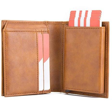 6fed5b1e37 Pelle Portafoglio Portamonete Porta Carta di Credito,KOOGOO RFID/NFC Blocco  Portafogli Multifunzionale in