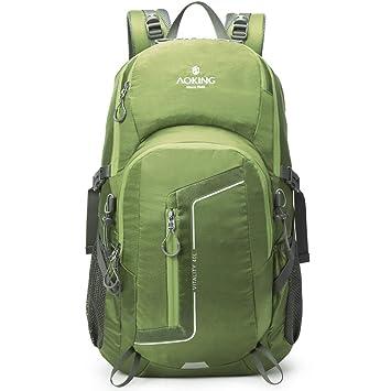 WEATLY Mochilas Impermeables Hombros Viajes multifunción Caminando Escalada Deporte de Ocio Adecuado para Uso en Exteriores (Color : Green): Amazon.es: ...