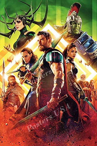 Posters USA Marvel Thor Ragnarok Textless Movie Poster GLOSS