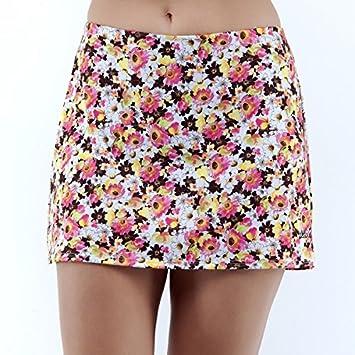 Faldas de padel/tenis con pantalon. Estampada con dibujos de flores de pradera, S: Amazon.es: Deportes y aire libre
