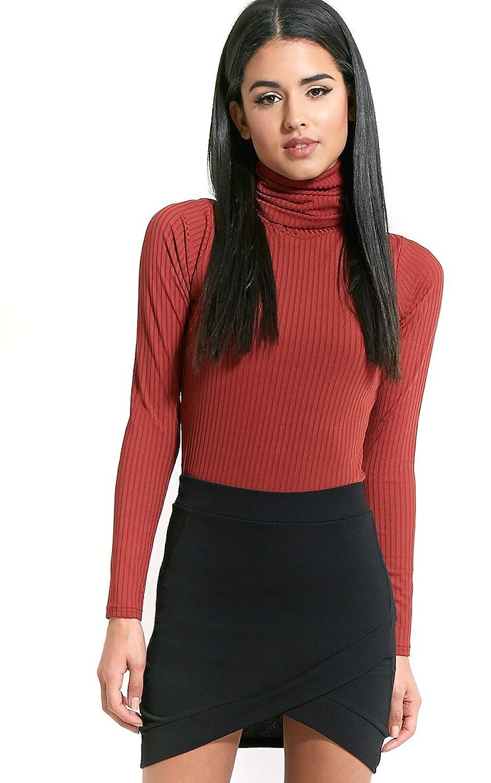 Womens Gabriella Black Asymmetric Mini Skirt
