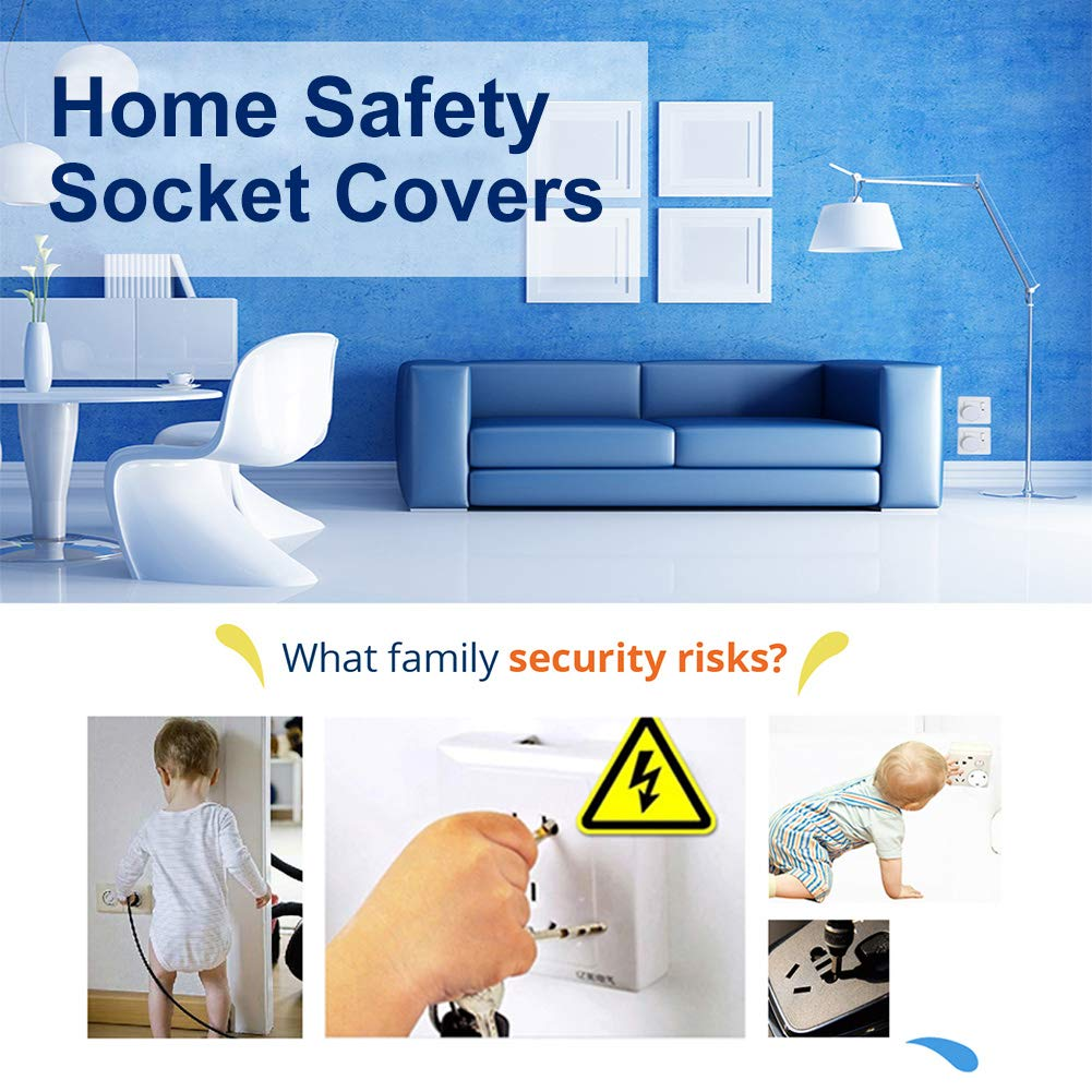 Electrical Socket Protector Child Safety Electrical Outlet Plug Baby Plug Covers for Home and School kuou 10 pcs White Socket Covers