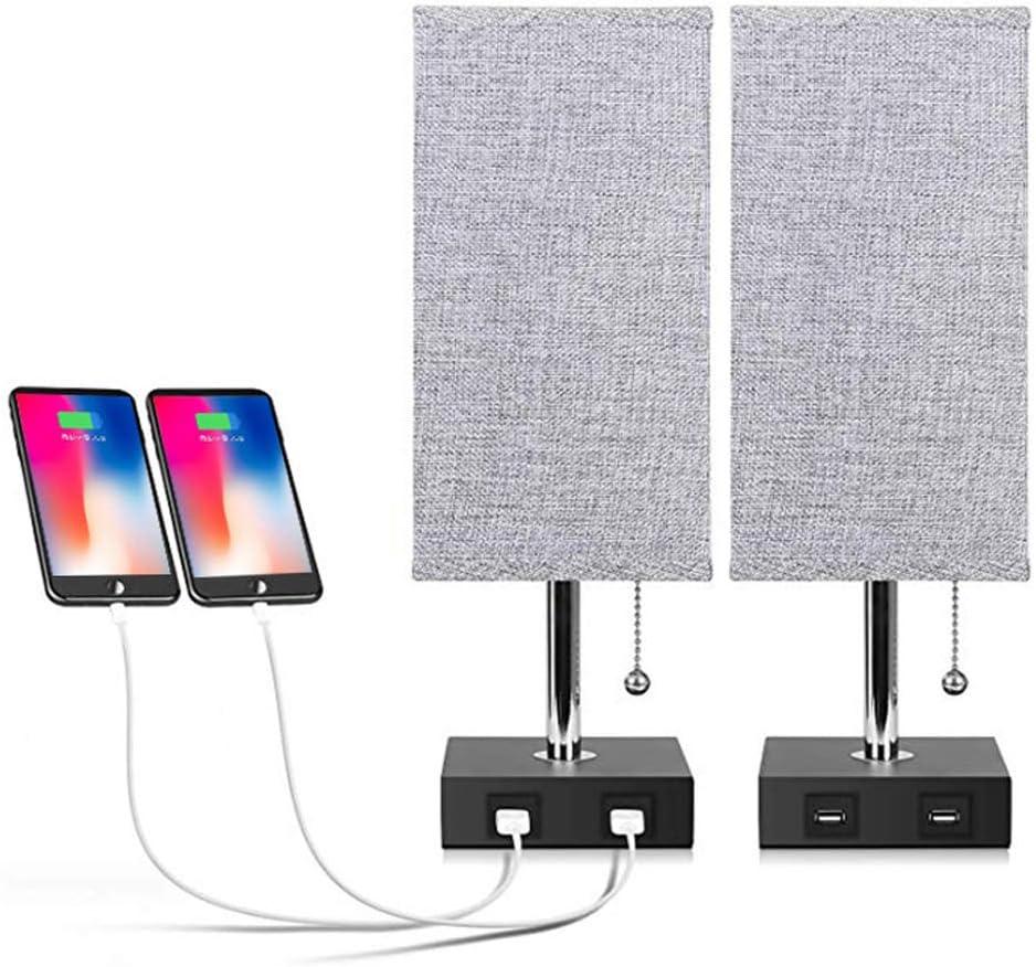USB Bedside Table Lamp,Seealle Modern