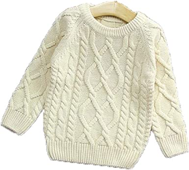 Girls Sweaters Kids Winter Sweater New Baby Girl Sweater Solid Winter Pullover  Girls Toddler Girls Knitted Sweater 18M-4T: Amazon.co.uk: Clothing