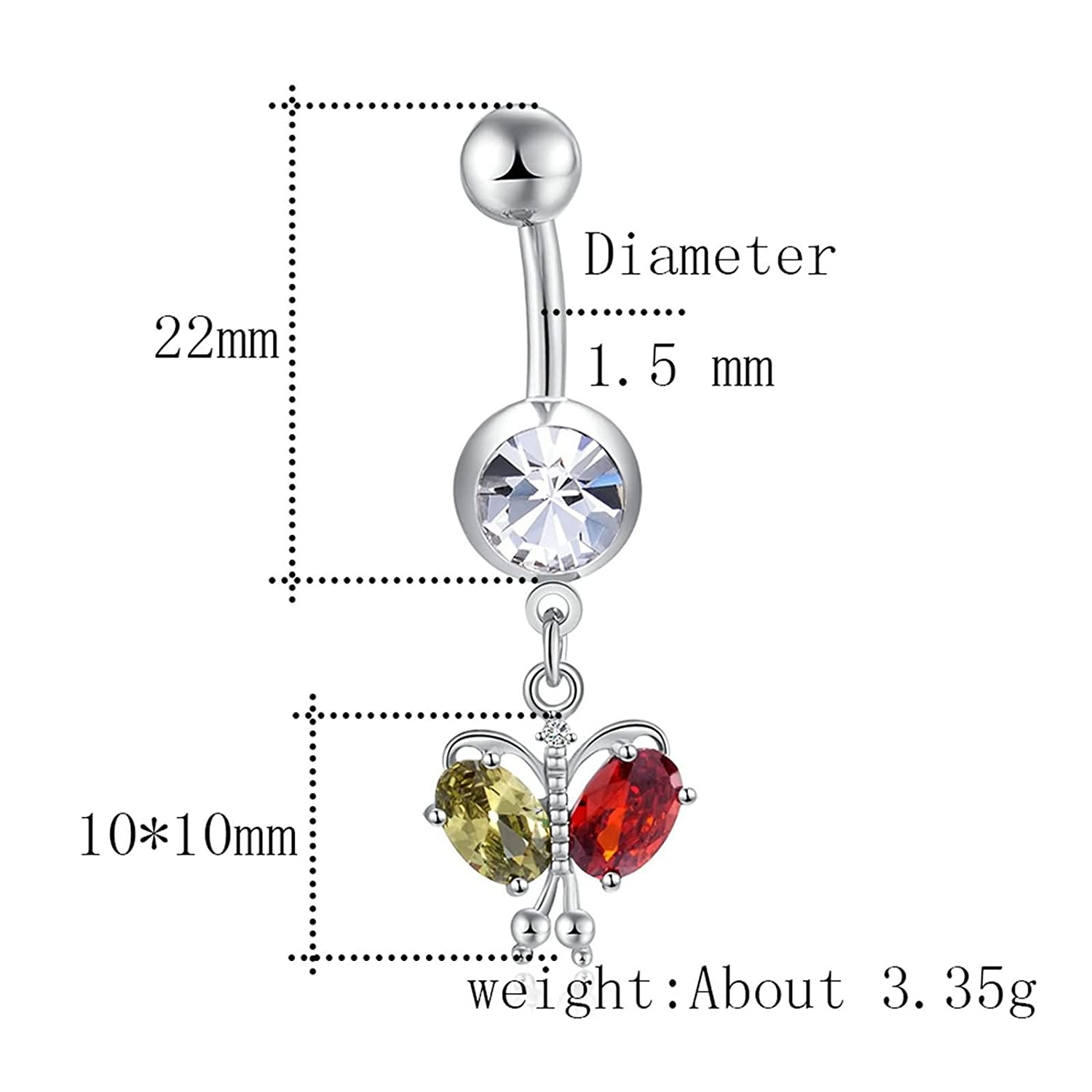 Amazon com: Beydodo Belly Button Rings Dangle Unique Surgical Steel