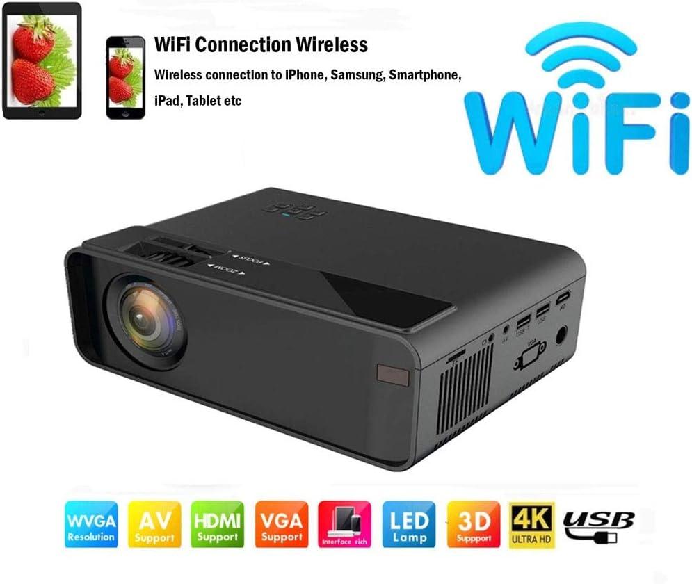 Mini proyector LED portátil/WiFi Full HD 1080p de Video ...