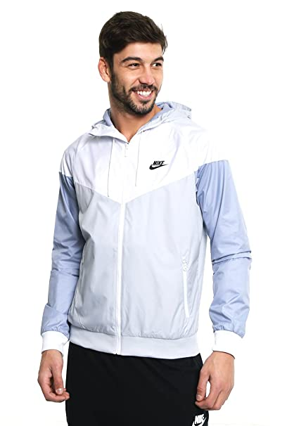 0bbfc1057 Buy Nike Mens Windrunner Hooded Track Jacket Pure Platinum/White/Glacier  Grey 727324-044 Size Small Online at Low Prices in India - Amazon.in
