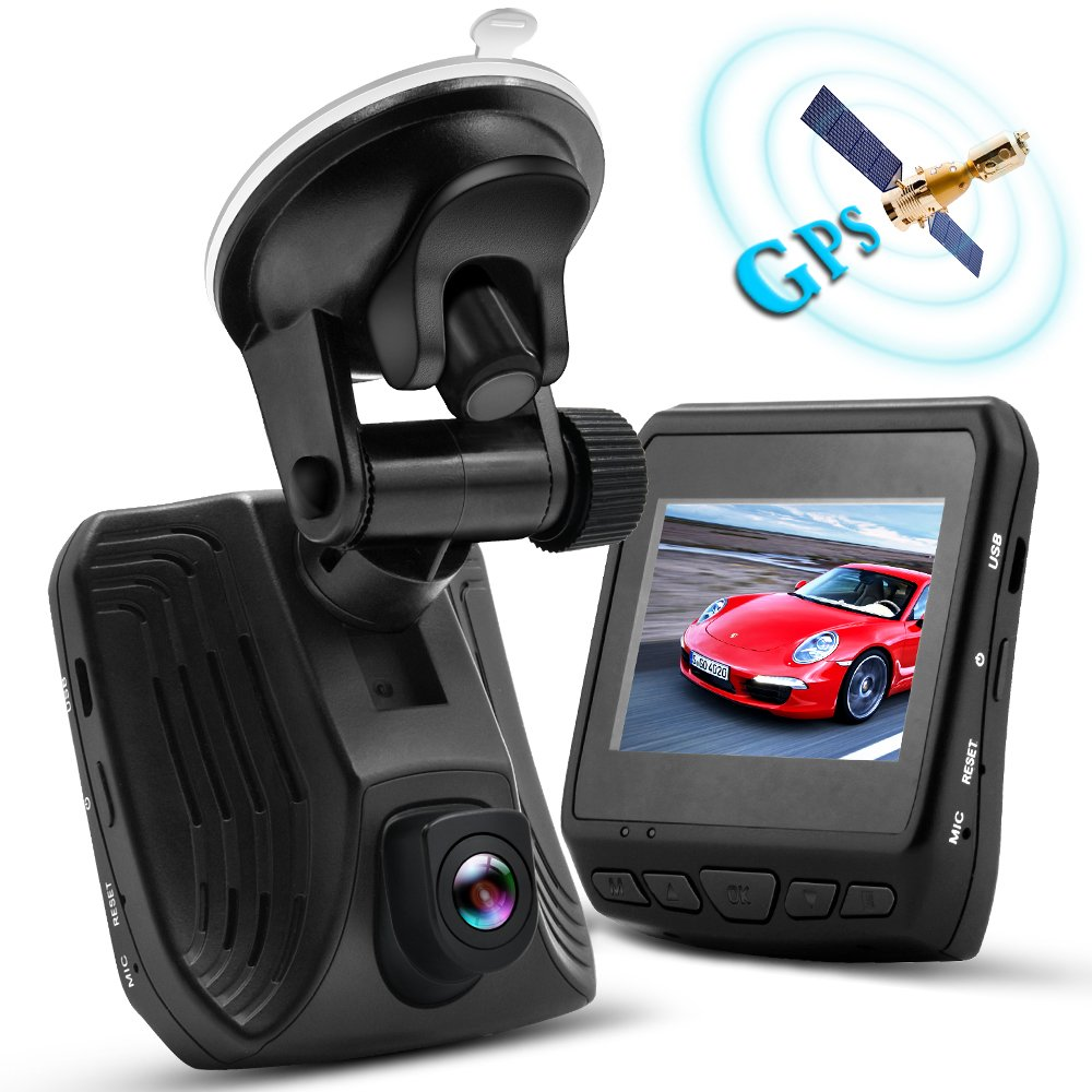 WHLZD 2K Super HD Car Dash Cam with GPS - Night Vision Dashboard Camera Recorder Ambarella A12 Car Security DVR, Parking Monitor Loop Recording with G-sensor and Motion Detection Supporting TF Card