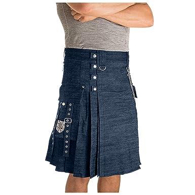 Smony Falda de Vestir Escocesa para Hombre, Unisex, Estilo Vintage ...