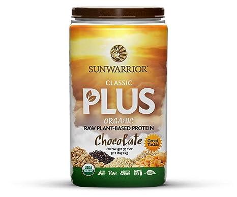 Sunwarrior 8994 - Proteínas vegetales Classic Plus Organic con aroma de chocolate, 1000 gramos: Amazon.es: Salud y cuidado personal