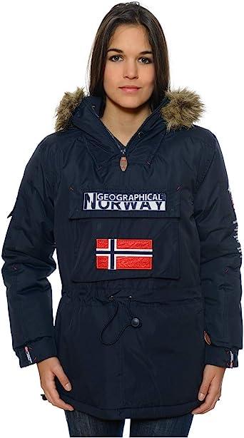 manteau geographical norway femme bleue marine