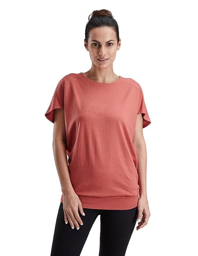 Proyog orgánico Yoga Top - Chaqueta de la Mujer - Rojo ...