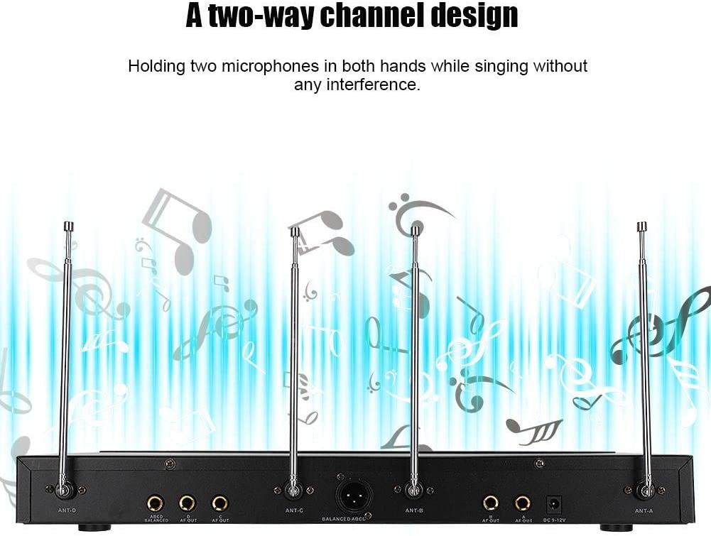 Garsent Wireless Microphone UHF Channel Wireless Microphone System with Headset Microphone Professional Microphone Kit for Teaching Preaching Speaking etc