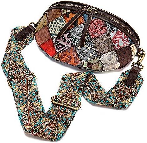 バッグ - ファースト層牛革/ポリエステル/エスニックスタイルのファッション旅行バッグ、女性のメッセンジャーバッグ/ショルダーバッグ、マルチカラー、ソフト/ウェアラブル(22x7x15cm) よくできた