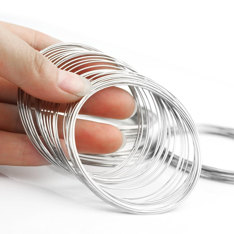 100 Windungen Speicher Draht Memory Wire Spiraldraht Schmuckdraht ...