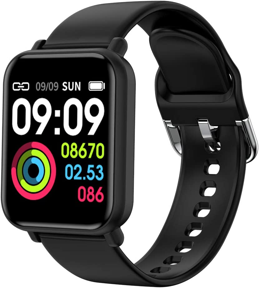 """ANHAO Smart Watch Fitness Trackers Waterproof Sport Watch with Heart Rate Blood Pressure Sleep Monitor Smartwatch Compatible with iPhone Samsung Android Phones 1.3"""" Touch Screen for Women Men Kids"""