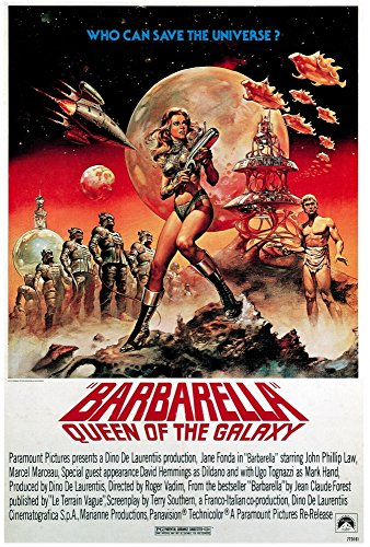 Posterazzi Aka Barbarella: Queen of The Galaxy Jane Fonda in 1977 Reissue Art 1968 Movie Masterprint Poster Print (11 x 17)