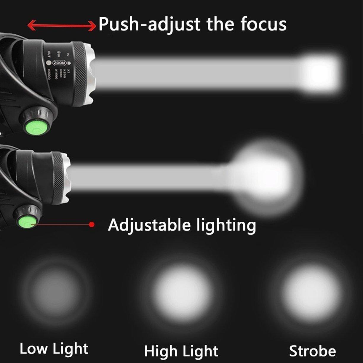 1 Pc 5000 Lumens Cree Xm L T6 Led Headlamp 3 Mode Headlights 10w 6v Ultrabright Chaser Circuit Flashlight Headlight Rousing Fashionable Ultra Xtreme Tactical Bright Light Outdoor Running