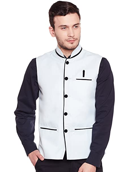 040db3e90 Camey Men's Nehru Jacket (Size-38): Amazon.in: Clothing & Accessories