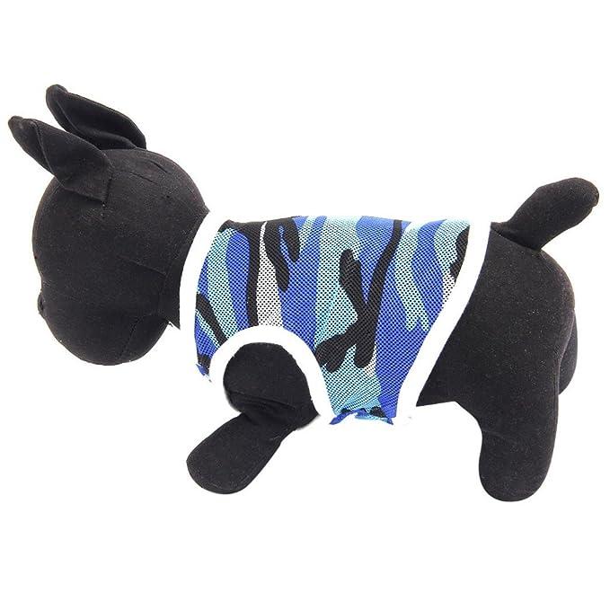 Amazon.com: howstar mascota ropa playera de malla ...
