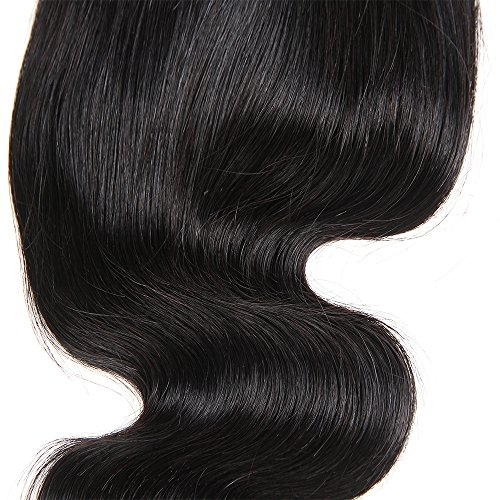 Brazilian Body Wave Closure Unprocessed Human Hair Lace Closure (4X4) Natural Black Color 10Inch by Grand Nature (Image #3)