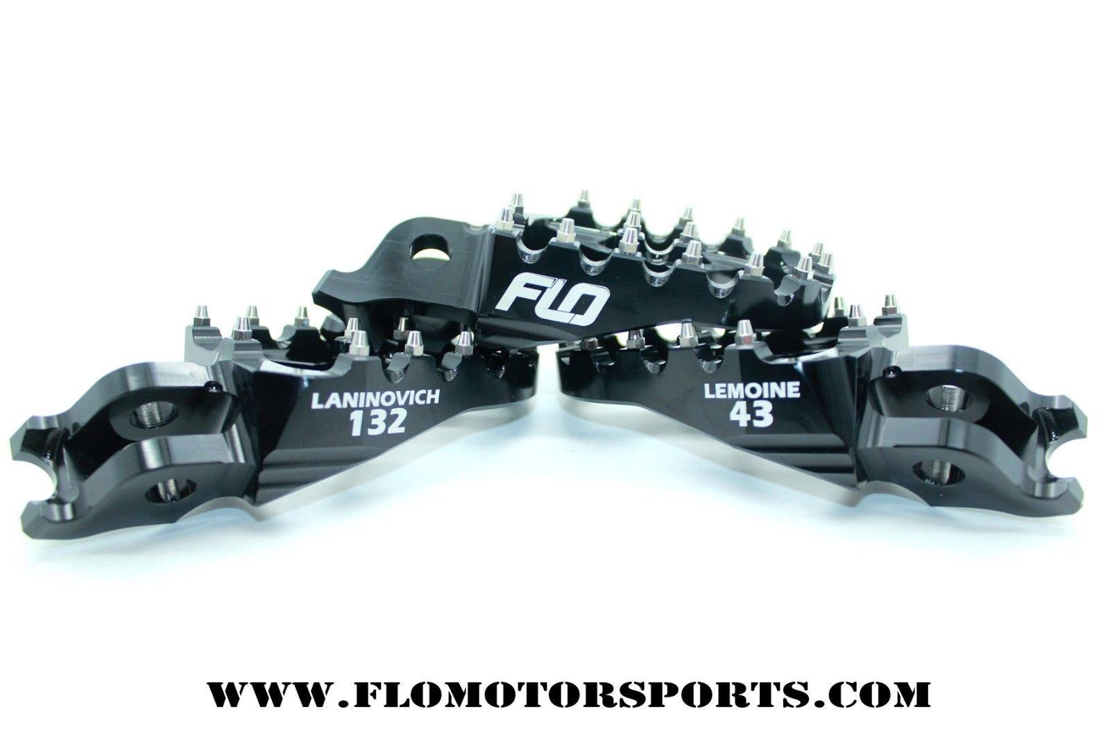 Flo Motorsports Black Kawasaki Kx65/80/85/100 Foot Pegs Fpeg-797blk by Flo Motorsports (Image #7)