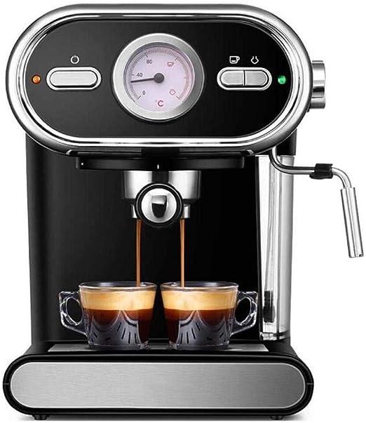 ZHQHYQHHX Cafetera Cafetera Italiana Semiautomática Visualización en el hogar Bomba de Control de Temperatura Completa Máquina de café 220V: Amazon.es: Hogar