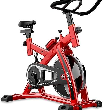 KuaiKeSport Bicicleta Spinning Profesional,Indoor Cycling Electromagnético Pantalla Electronica,Resistencia Variable Asiento y Manillar Ajustables Bicicleta Estatica con Hervidor y Tapetes,Red: Amazon.es: Deportes y aire libre
